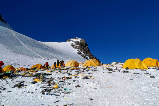 Everest Basura carpas y residuos